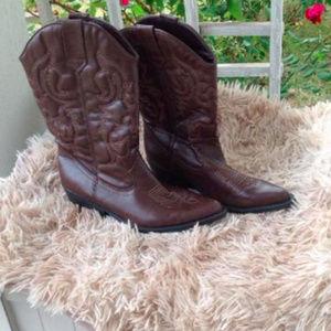 Madden Girl Brown Cowboy Boots